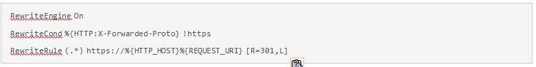 Для переадресации с HTTP на HTTPS